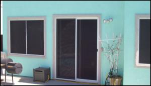 sliding screen door to a patio