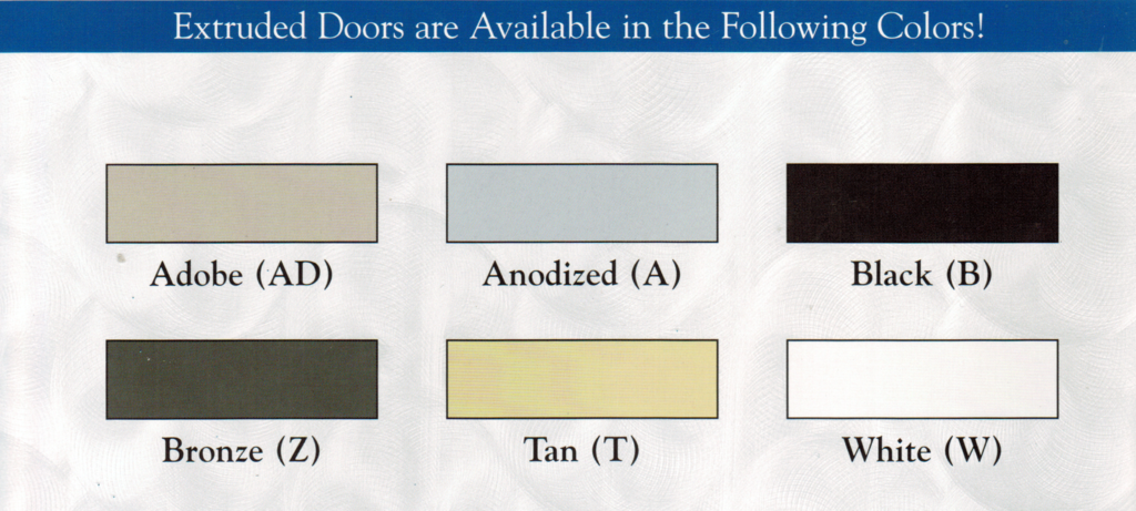 Screen door colors